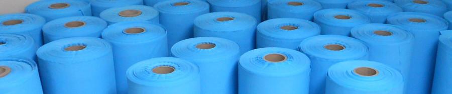 Embossed polyethylene film as rubber separator